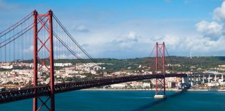 Disco-dodging tourists leap into Portugal's Tejo River