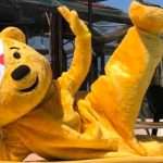 Pudsey Bear makes first ever trip aboard