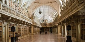 """Inside Mafra's vast library, Byron was asked: """"Do the English have any books in their country?"""""""