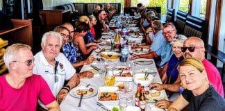 Bikers' lunch at Faro Moto Club