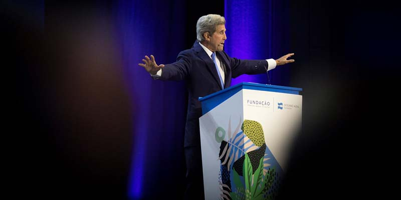 "John Kerry tells Lisbon summit: ""we're losing the battle"" for the planet's future"