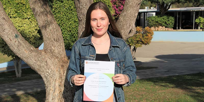 Elizabeth Hurst achieves Top in the World results at Outstanding Cambridge Learner Awards