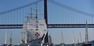 "NRP Sagres on first leg of ""historic, unrepeatable"" round-the-world voyage"