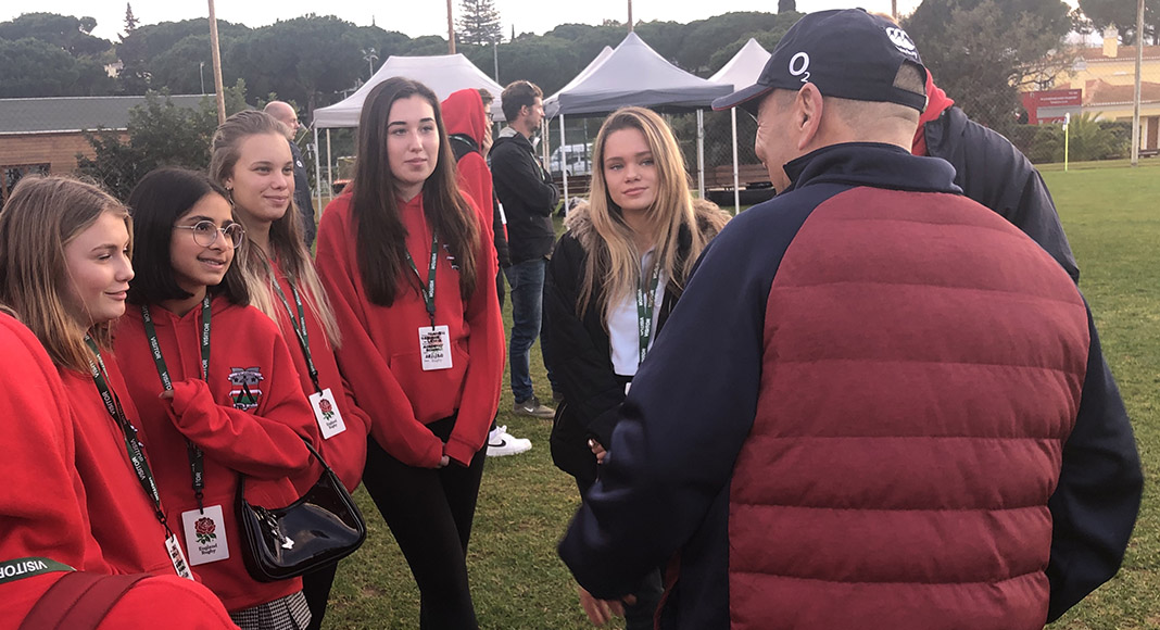 The Academy students meet England Rugby Union Team
