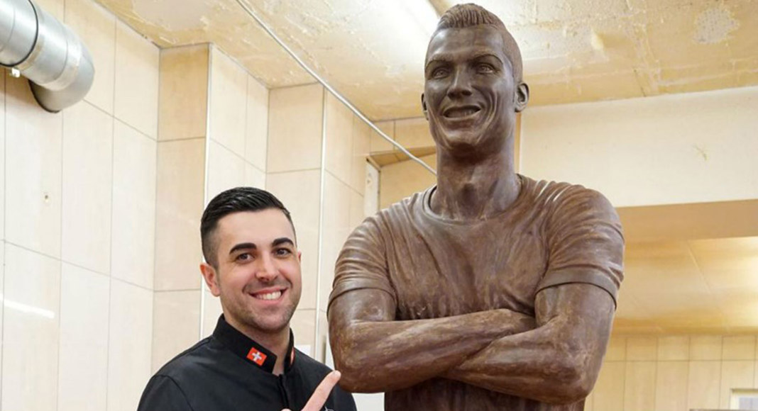 'Sweet CR7': Portuguese chocolatier unveils life-size sculpture of football superstar