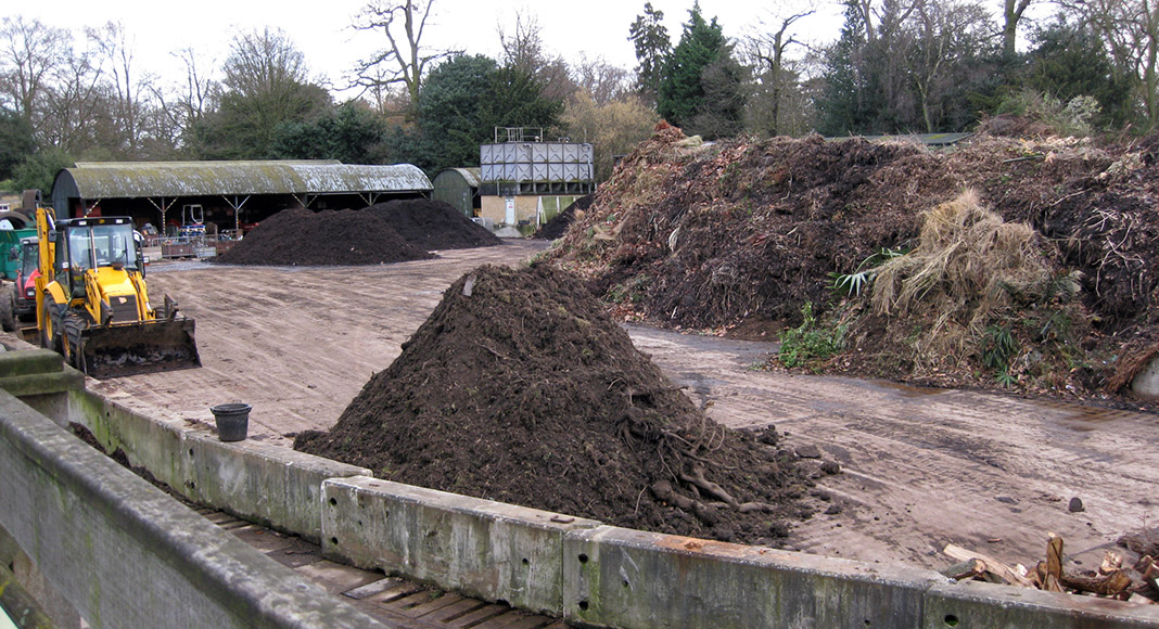 Kew compost yard