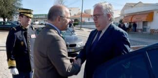 Loulé Mayor Vítor Aleixo (left) greeting Minister for Internal Administration Eduardo Cabrita