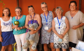 From left, Pauline Bishop, Kath Cox, Jane Walton, Pam Flood, Sandy MacDougall and Joy Kennedy