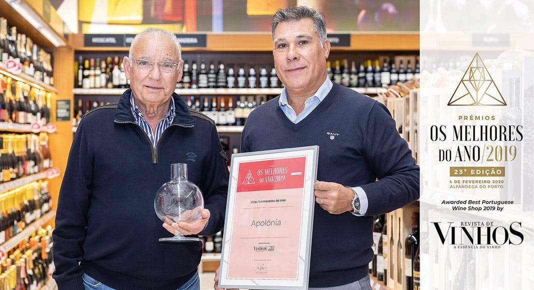 Supermarket chain founder Avelino Apolónia (left) with Arlindo Ribeiro, head of Apolónia's wine section