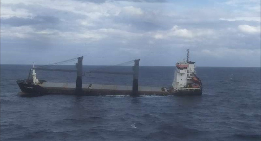 Cargo Ship Sinks During Rescue Tow Into Leixoes Portugal Resident