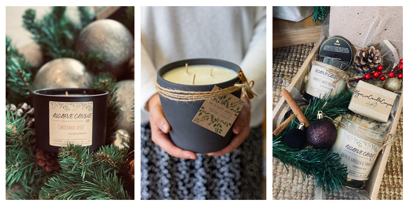 natural and handmade candles in the Algarve