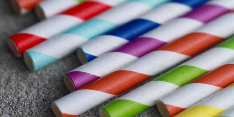 colourful paper straws
