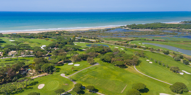 Aerial view of part of the Vale do Lobo resort located in the Algarve
