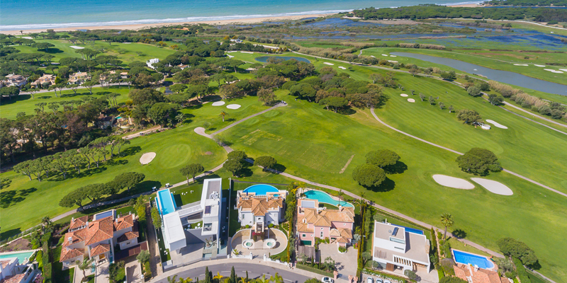 Aerial view of part of the Vale do Lobo resort