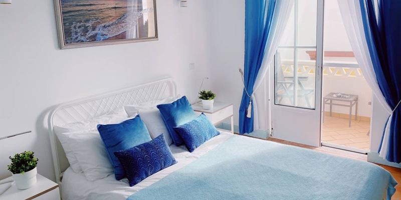 Bedroom in one of Bluespot's villas in the Algarve