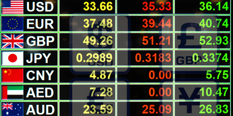 Different currency exchange rates
