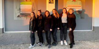 Photo of Linen-etc team outside one of their stores