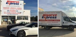 Office front and vans of Algarve Express Transport & Removals