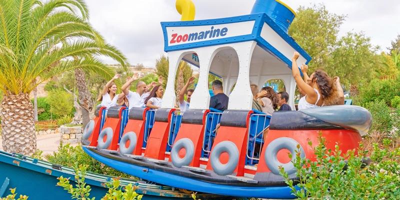View of one of Zoomarine's waterslide amusements