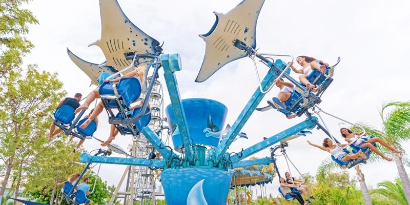 View of the Manta amusement at Zoomarine