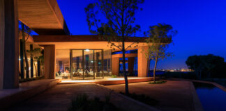 View of the outside of Palmares resort fine dining restaurant AL SUD