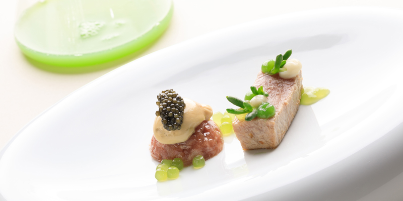 One of the dishes being served at Palmares resort fine dining restaurant AL SUD