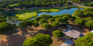Aerial view of Vale do Lobo's Vale Real